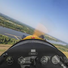 iCockpit - Blick aus dem Flugzeug-Cockpit