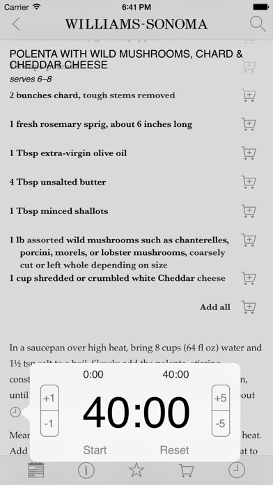 Recipe of the Day from Williams-Sonoma app image