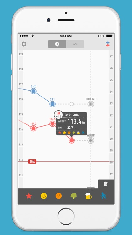 PopWeight - Easily track and record your weight screenshot-3