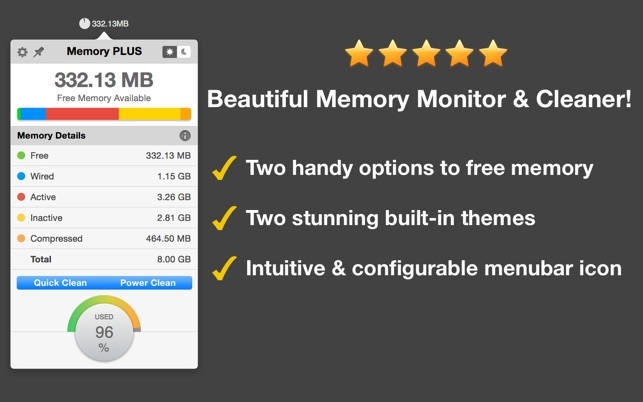 Memory PLUS - An Effective Memory Monitor and Cleaner Screenshot