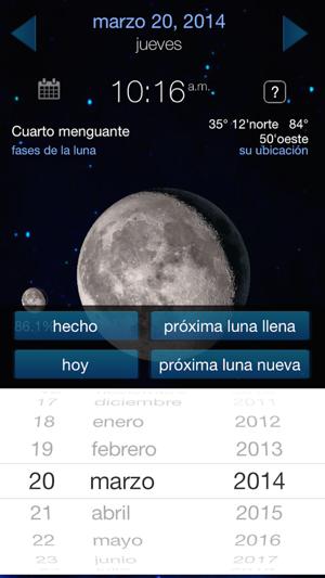 pronosticador del tiempo y el calendario de fases lunares en App Store