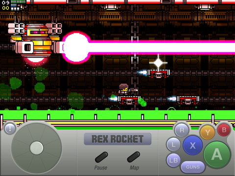 Screenshot from Rex Rocket: Mobile
