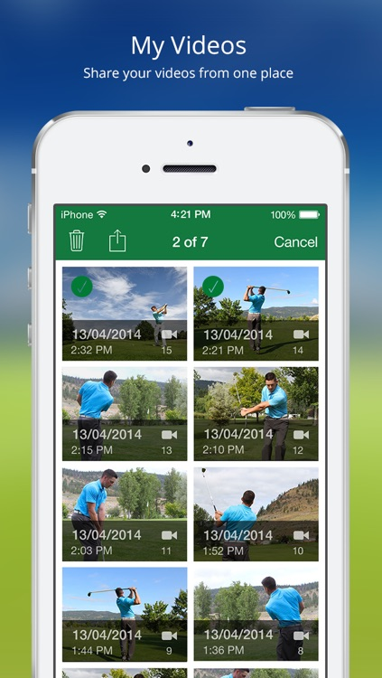 Golf Coach - Automatically Record, Annotate and Analyse your Golf Swings screenshot-3