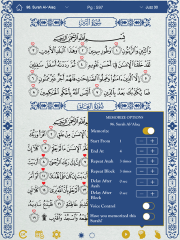 Quran by Heart Lite: Voice activated Quran Memorization