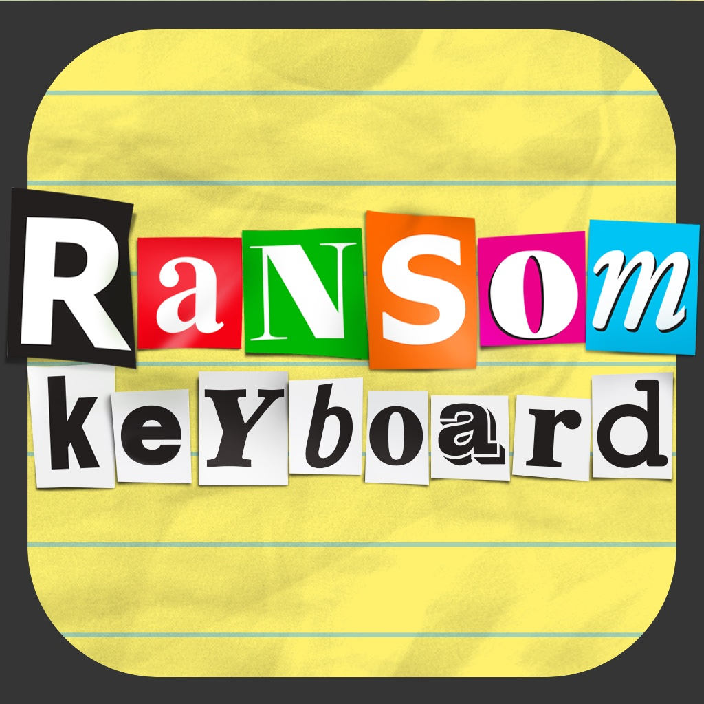 Ransom Keyboard ~ hilarious custom keyboard types everything like a ransom note!