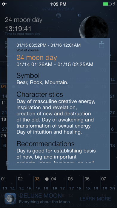 Moon Days - Lunar Calendar and Void of Course Timesのおすすめ画像2