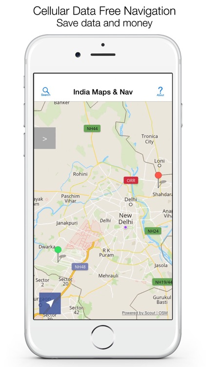 India Offline Maps and Offline Navigation screenshot-0
