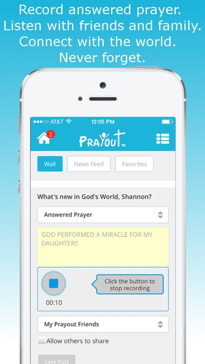PrayOut - Voice Prayer Social Network screenshot-4
