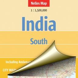 India: South. Tourist map.