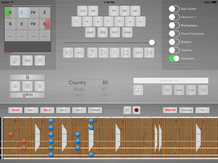 Guitar Scale Trainer Pro + Backing Tracks Creator screenshot-0