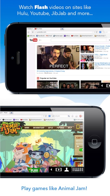 VirtualBrowser for Firefox with Flash-browser, Java Player and Add-ons - iPhone Edition