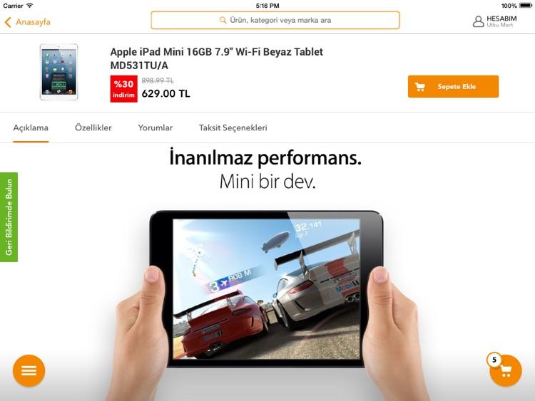 Hepsiburada Tablet screenshot-4
