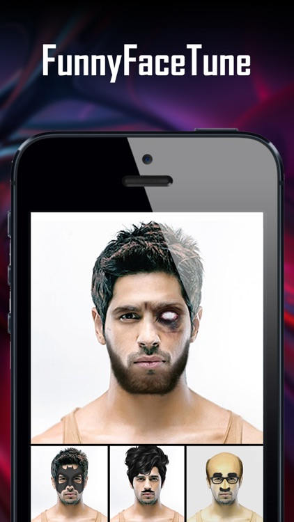 Funny Face Tune Pro - Selfie Photo Maker to Add Tattoo, Wig, Mustache, Piercing and More on Yr Body