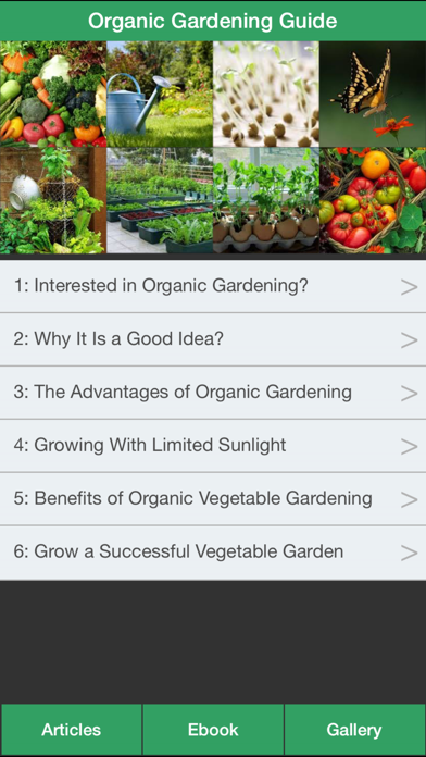 Organic Gardening Guide - A Guide To Growing Your Own Organic Vegetables screenshot one