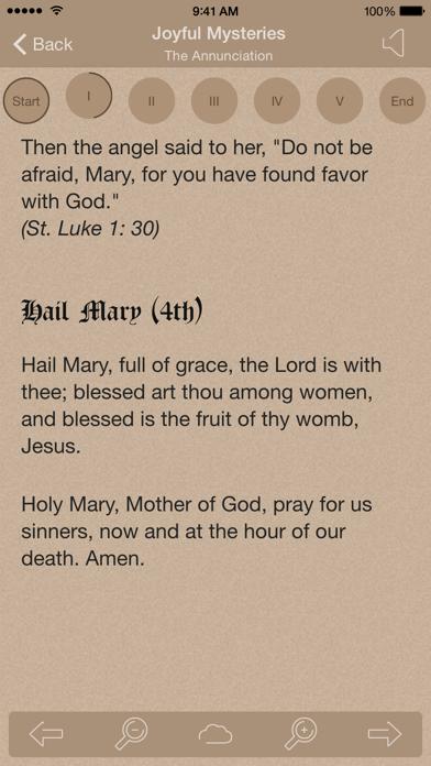 Scriptural Rosary review screenshots