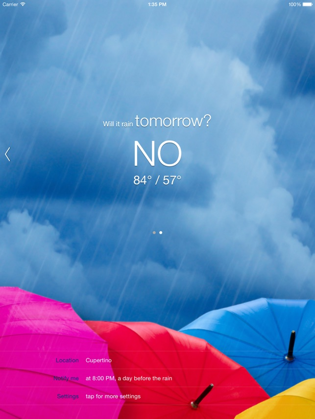 Will it Rain? [Pro] - Rain condition and weather forecast alerts and notification Screenshot