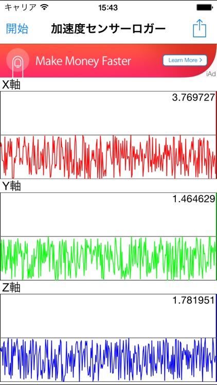 Acceleration gyroscope magnetometer sensor logger