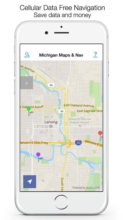 Michigan Offline Maps & Offline Navigation screenshot-0
