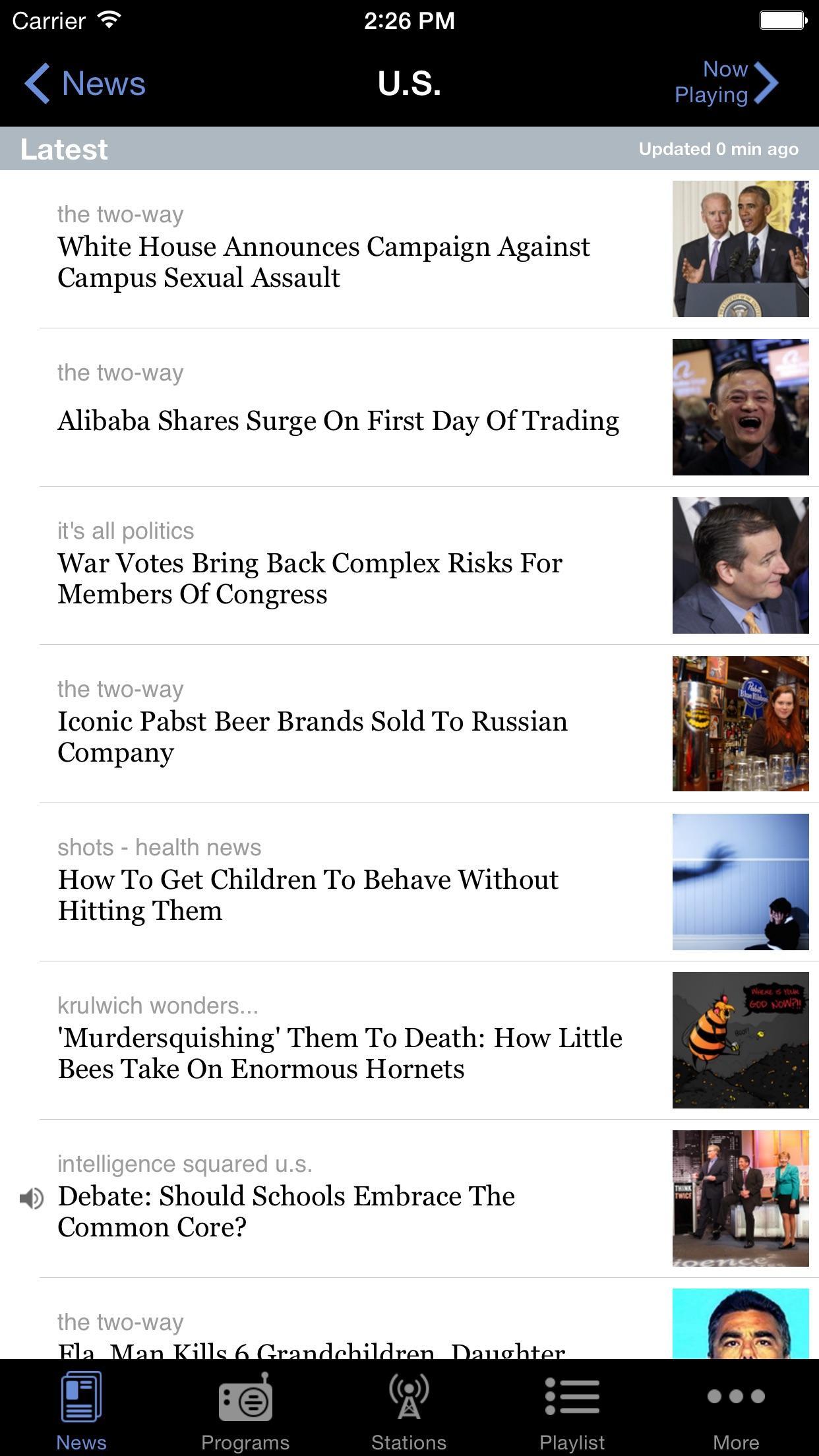 NPR News Screenshot