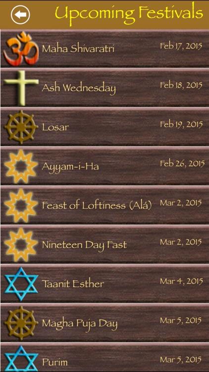 Festivals and Holy Days screenshot-3