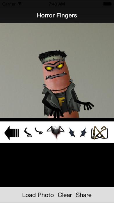 Dedos Horror - Crear caras de horror sobre los dedosCaptura de pantalla de2