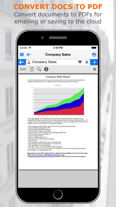 Screenshot for PrintCentral Pro for iPhone in Austria App Store