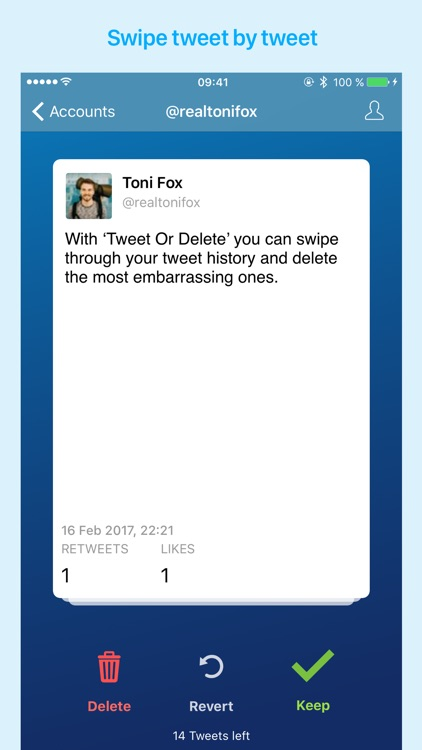 Keep Or Delete - clean up your old tweets