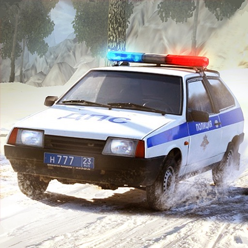 Russian cars Traffic Police 2108
