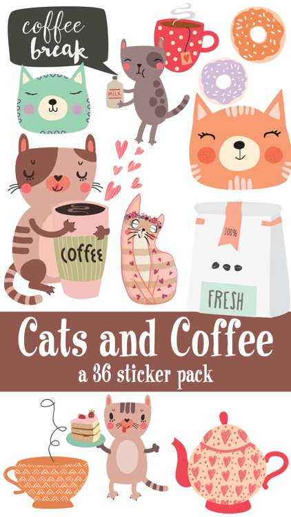 Cats and Coffee Sticker Pack screenshot-0