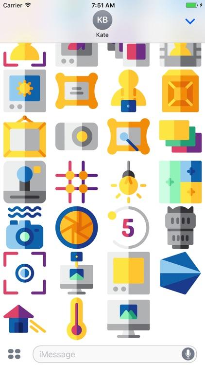 CameraMoji - Stickers for Photographers screenshot-4