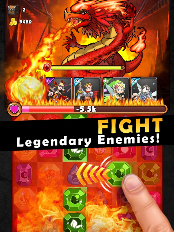 Dragons Kingdom War: Puzzle & Card RPG Game-ipad-2