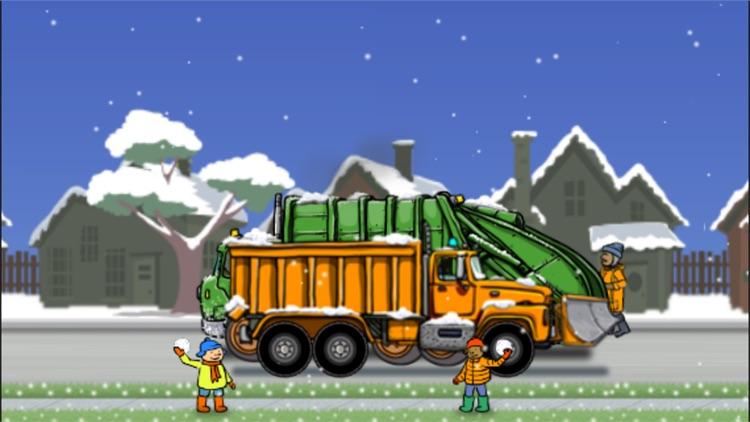 Garbage Truck: Snow Time screenshot-3