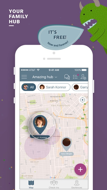 Family In Safe: location tracking, chat and tasks