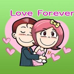 Happy Wedding Couple Stickers