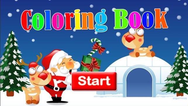 Weihnachten Malbuch Zeichnung für Kinderspiele im App Store