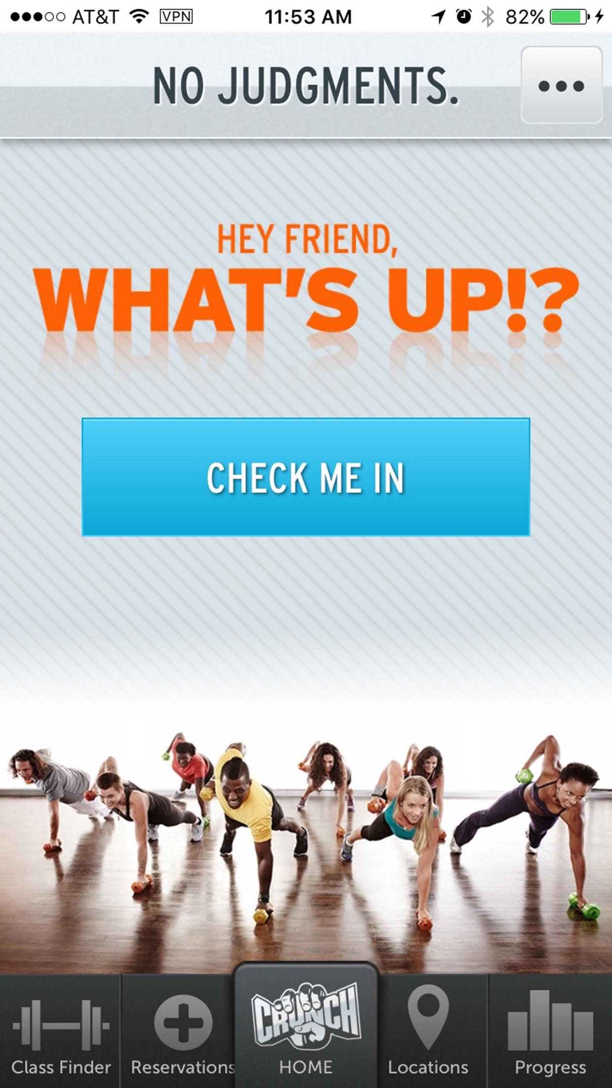 Crunch Fitness Screenshot