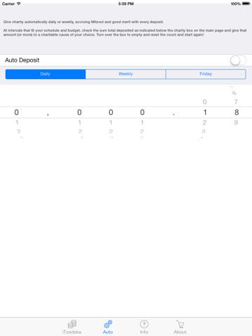 Screenshot of iCharity