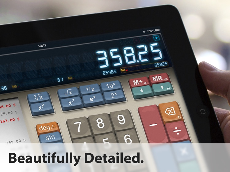 MaxiCalc Free: Big Retro LCD Basic Desk Calculator
