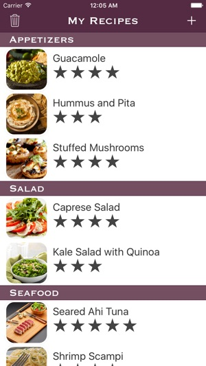 My recipes list on the app store iphone screenshots forumfinder Image collections