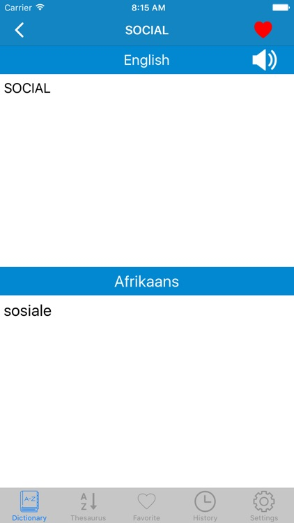 English to Afrikaans Offline Dictionary