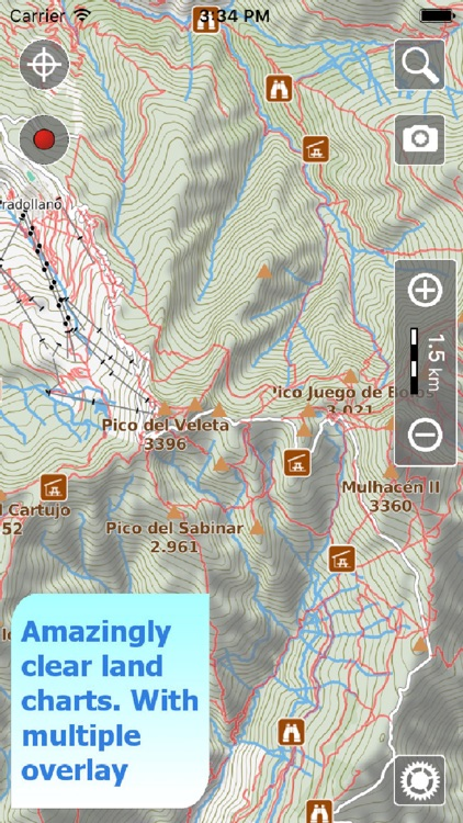 Trails of Sierra Nevada - GPS Topo Maps for Hiking