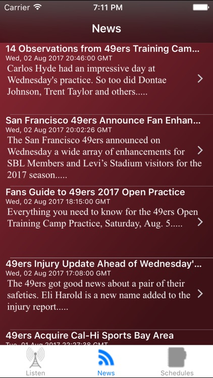 San Francisco Football Live - Radio, Schedule News screenshot-3