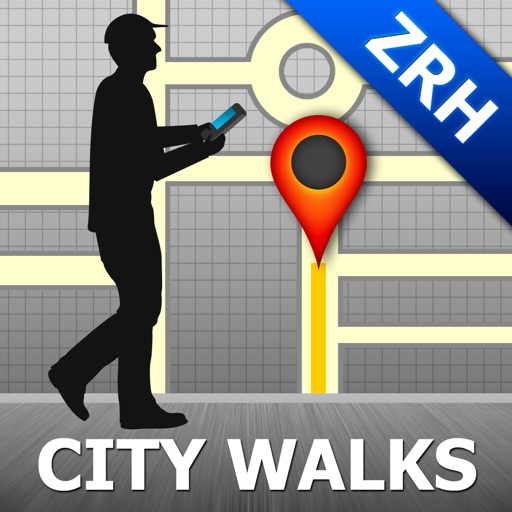 Zurich Map and Walks, Full Version