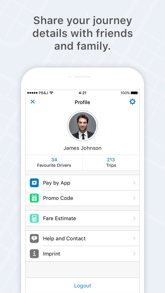 mytaxi - The Taxi App Screenshot