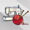 編み物と手芸ステッカー