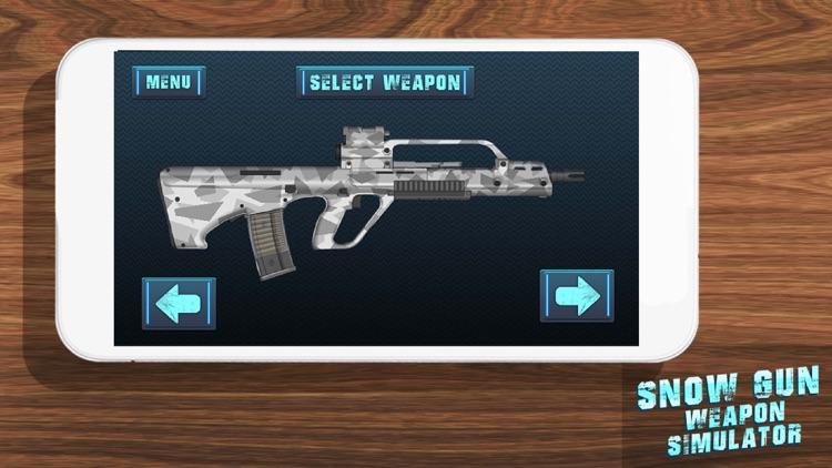 Snow Gun Weapon Simulator