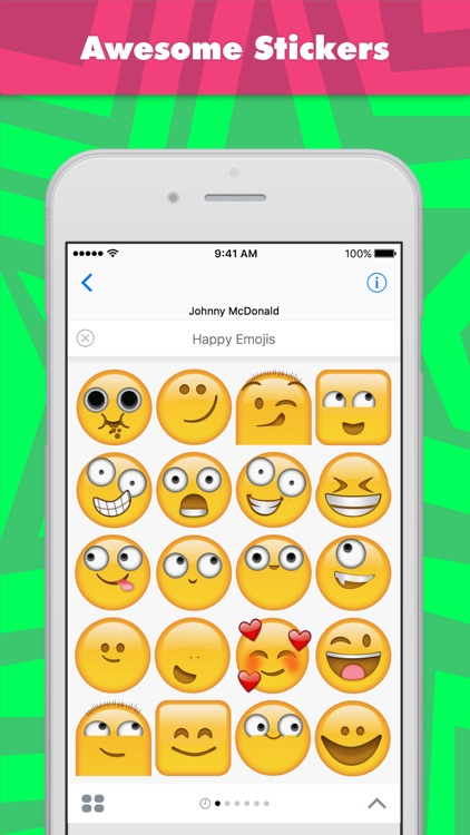 Happy Emojis stickers by Johnnymcdonald1