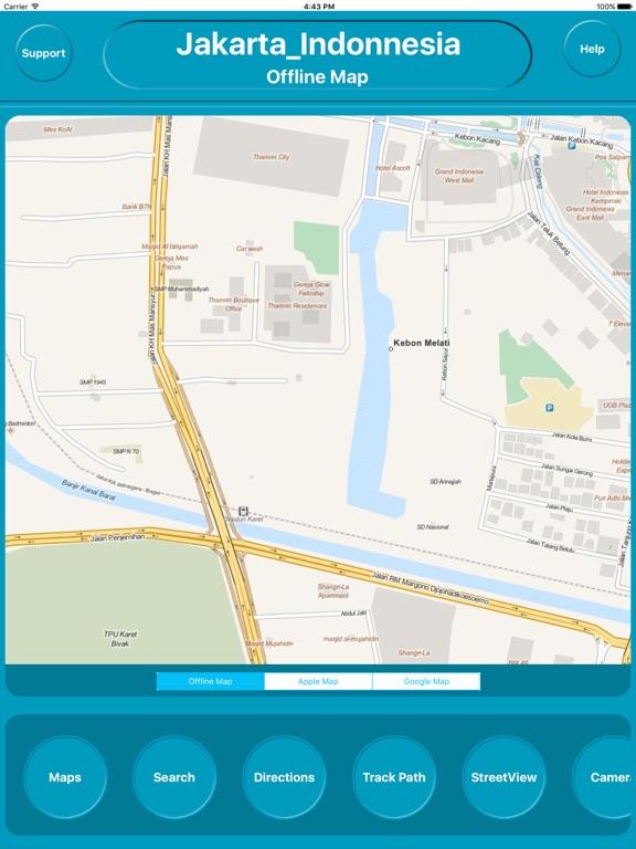 Jakarta Indonesia fline City Maps Navigation