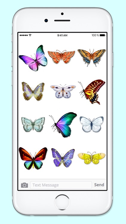 Beautiful Spring & Summer Butterflies Sticker Pack screenshot-3