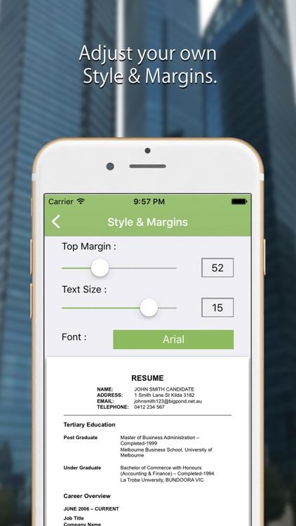 CV Writer: Professional Resume Designer & Builder screenshot-3
